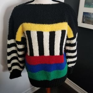 Vintage chunky knit 80s style sweater